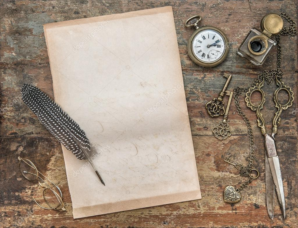 Vintage writing paper article