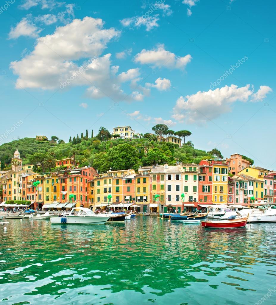 Portofino village on Ligurian coast, Italy, Mediterranean Sea