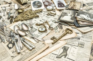 Antique french and german collectible goods. Flea market
