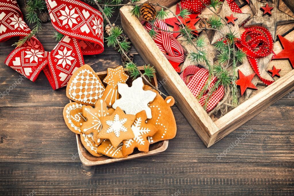 Lebkuchen Cookies Und Christbaumschmuck Retro Stil Startseite De