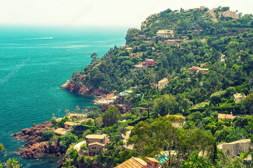 Beautiful mediterranean landscape, french riviera, France