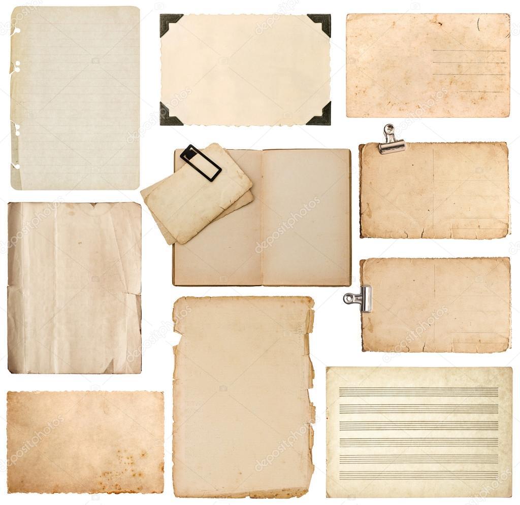 Blatt Papier, Bookpage, Karton, Fotorahmen mit Ecke — Stockfoto ...