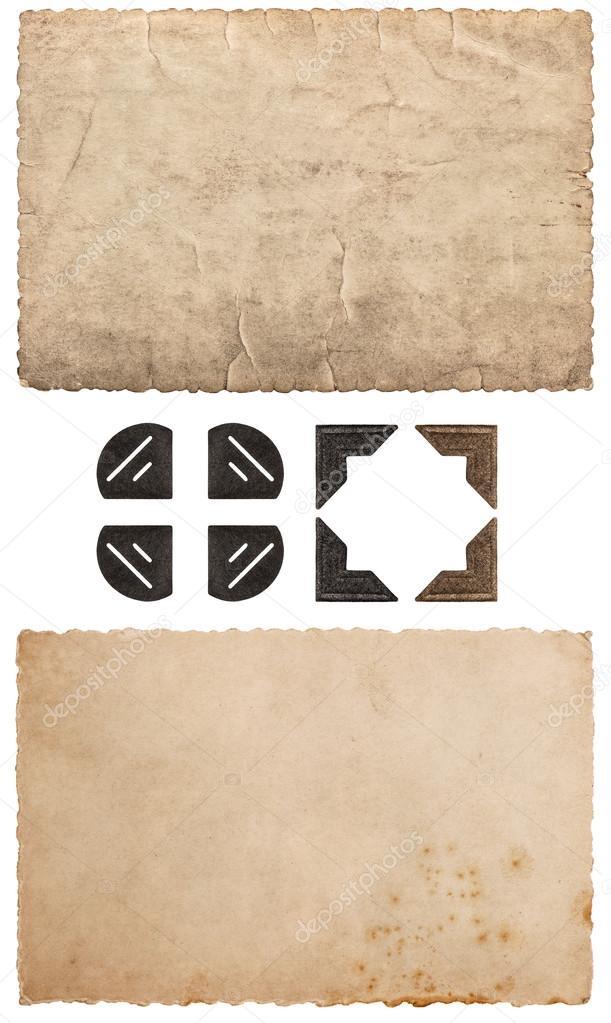 Jahrgang Pappe als Rahmen für Fotos und Bilder. Altpapier ...