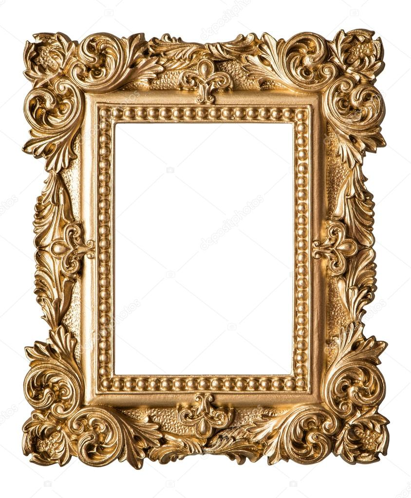 picture frame baroque style vintage art gold object fotos de stock liligraphie 87852384. Black Bedroom Furniture Sets. Home Design Ideas
