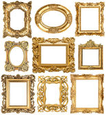 Golden frames. Baroque vintage objects. Antique picture