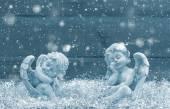 Skluzu anděl strážný. Vánoční dekorace. Vintage styl blu