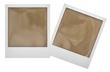 Instant polaroid photo frames with clipping path stock vector
