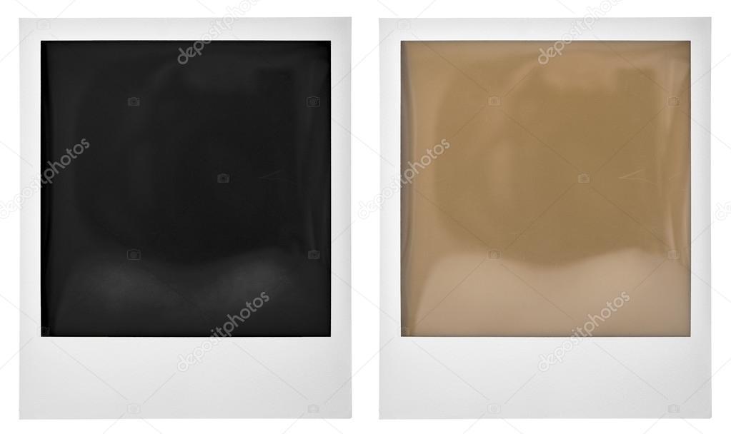 Polaroid Instant Photo Frame Isolated On White Stock Photo