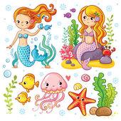 Mořské panny a mořští živočichové