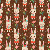Fotografie seamless pattern with cute rabbits