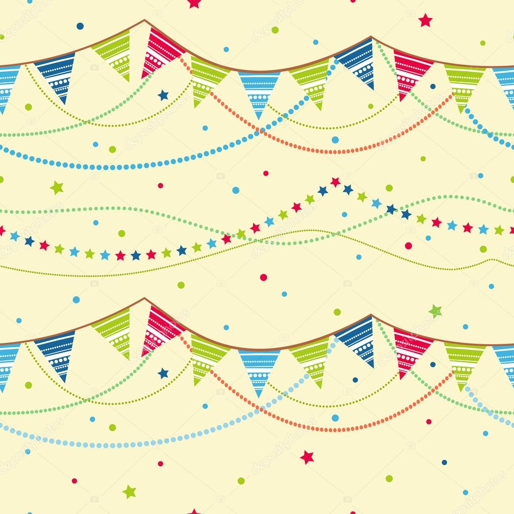 party flags seamless background