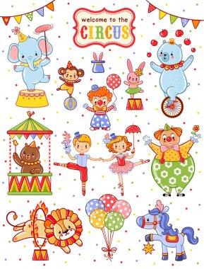 Cute circus set.