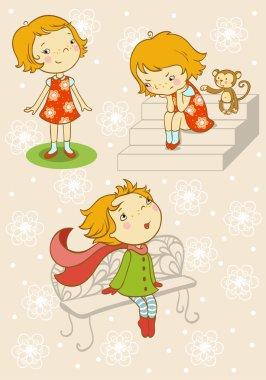 little girl set