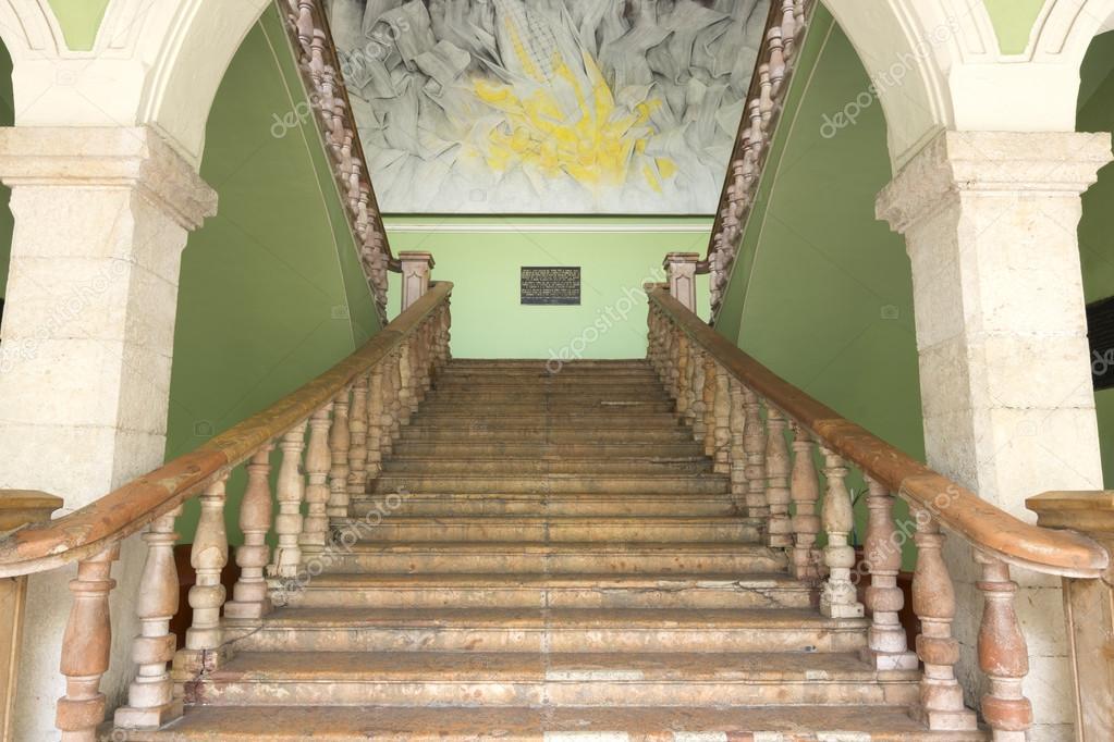 Treppenhaus Im Regierungspalast Merida Mexiko Stockfoto C Czuber