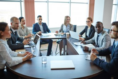 Businesspeople on meeting at the office