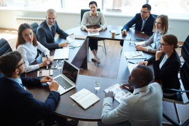 Businesspeople during meeting