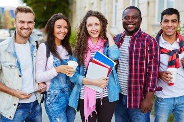 Portrait of confident college students