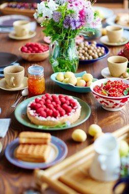 Abundance of tasty food
