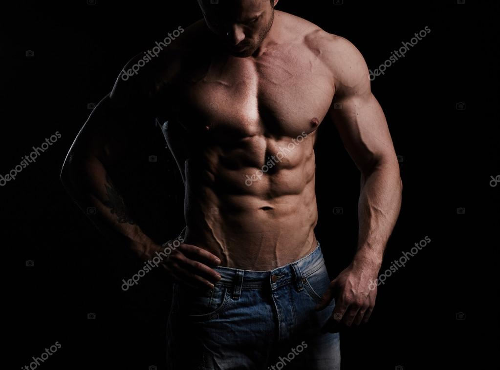 Sporty and healthy muscular man