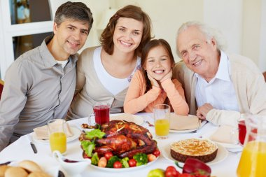 Family on Thanksgiving day