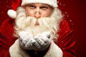 Santa claus zvířený sníh