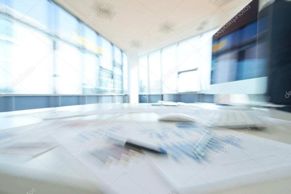 Blurred empty office
