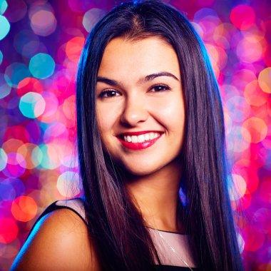 Glamorous teenage girl at nightclub