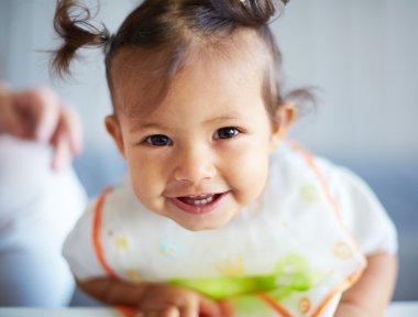 Smiling cute toddler girl