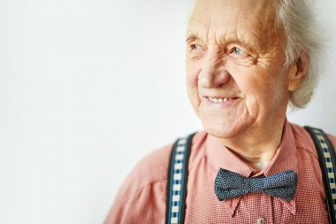 Senior well-dressed man
