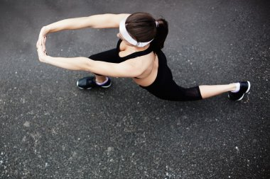girl doing physical exercise