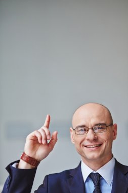 Successful  Businessman  pointing up