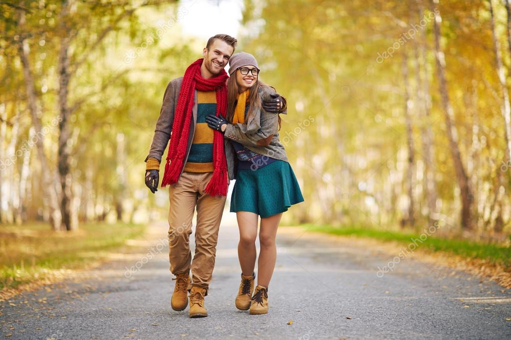 Stylish young couple in love