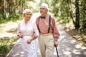Fotografia Coppia di anziani in smart casual-wear