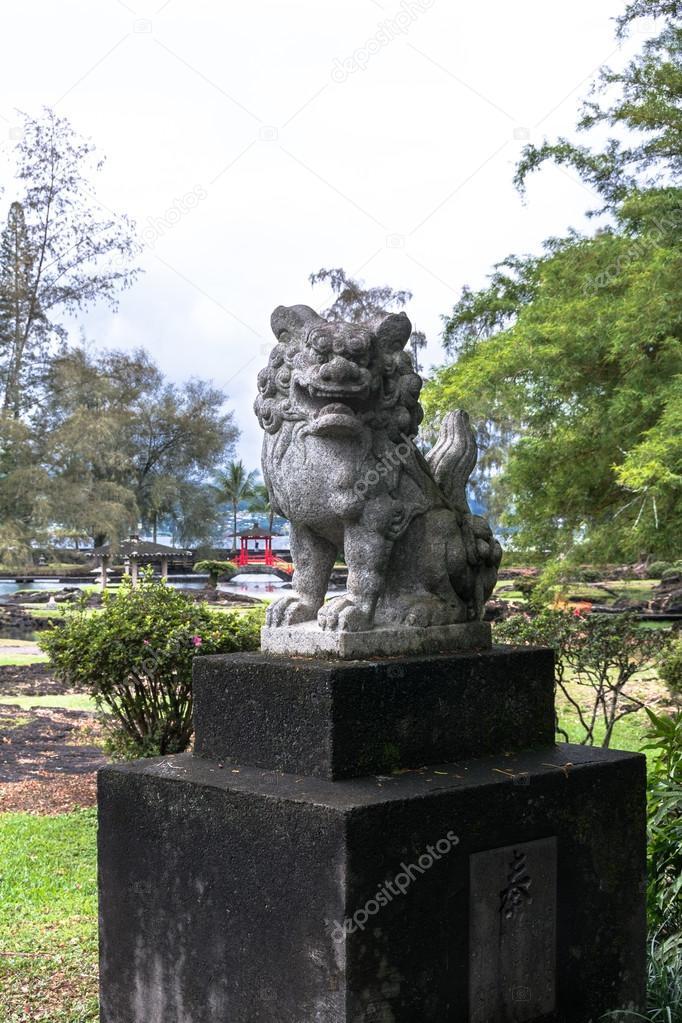 Garden Dragon Statue In Japanese Park, Hilo, Hawaii U2014 Stock Photo