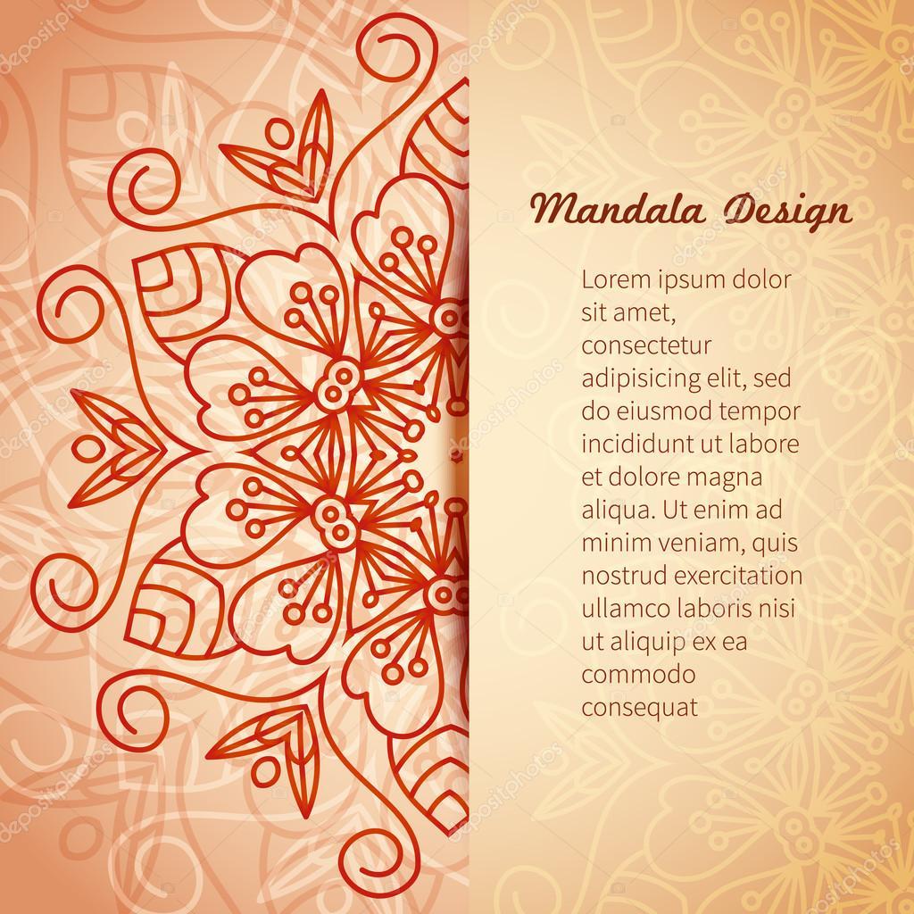 Mandala Invitation Card Vector Stock Vector Lilileka