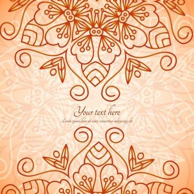 Mandala vector invitation