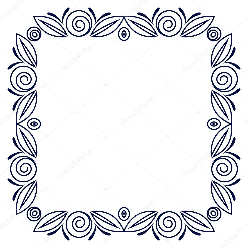 Simple Frame With Roses Flowers Stock Vector