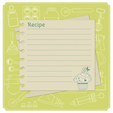 Sweet recipe card template