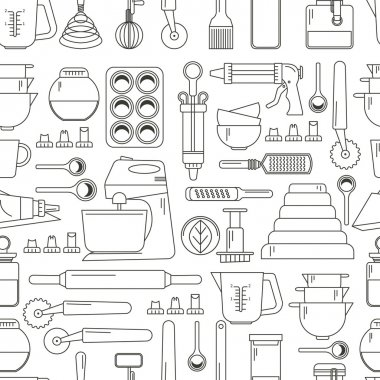 Seamless pattern  cooking icons
