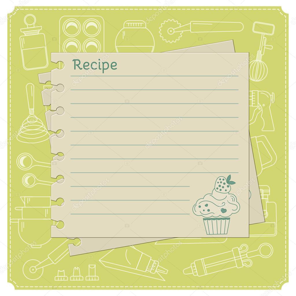 Sweet recipe card template — Stock Vector © lilileka #83830244