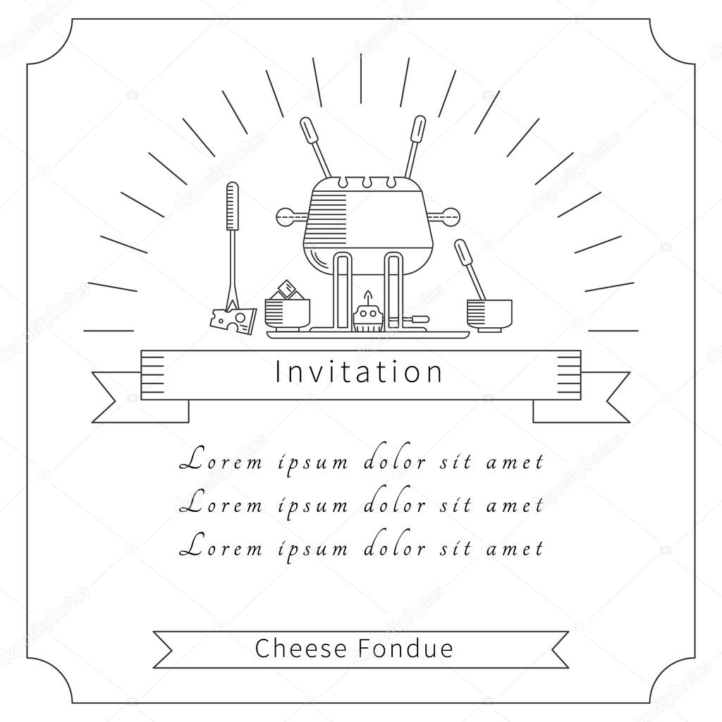 The invitation of fondue party Vector lilileka 92639564 – Fondue Party Invitations