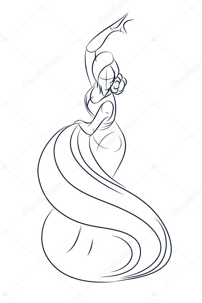 Dibujos: gitana dibujo | gesto flamenco gitana bailarina tinta ...