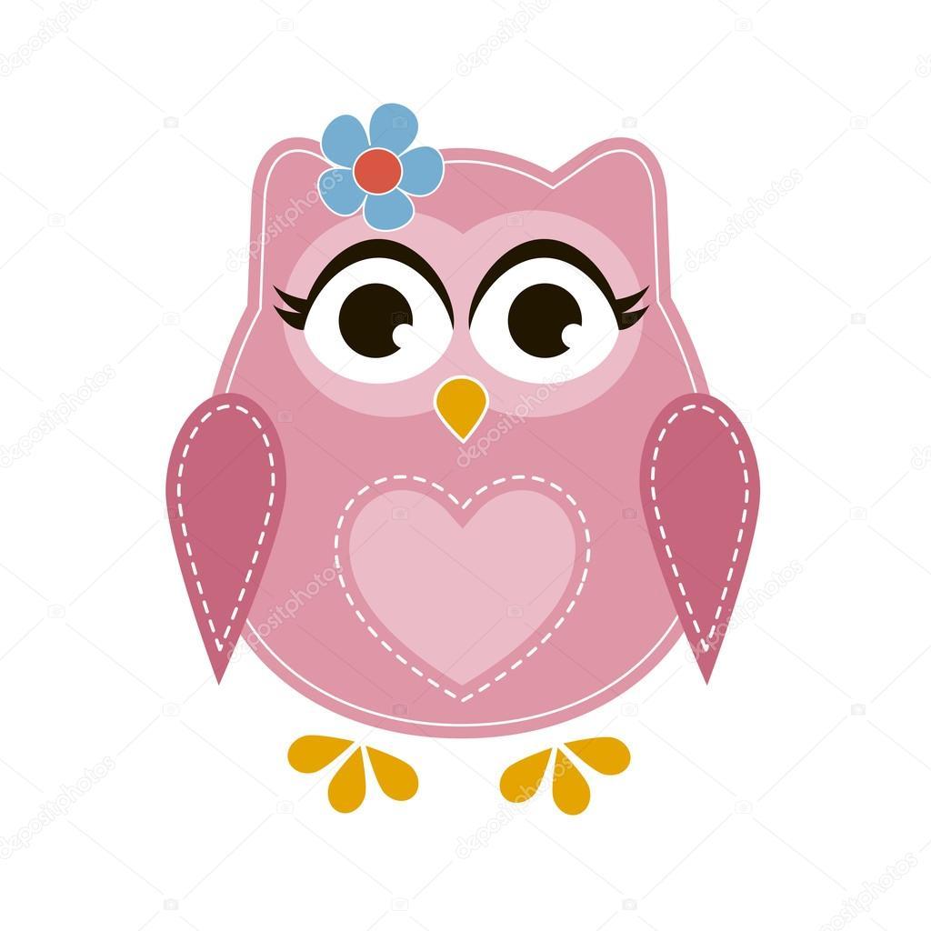 buho rosa dibujos animados vector de stock  u00a9 ann Owl Clip images of owls clip art with bible
