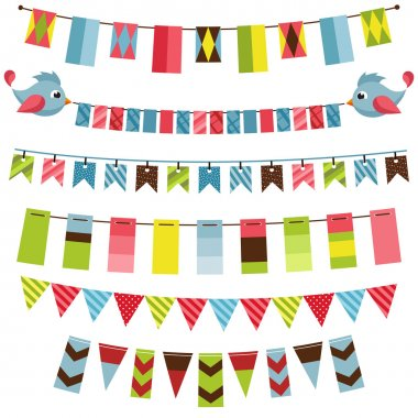 Bunting and garland set