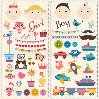 Scrapbook boy and girl set