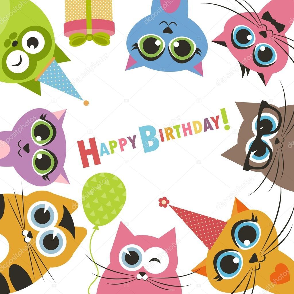 super přání k narozeninám přání k narozeninám vtipné kočky — Stock Vektor © Ann_Precious  super přání k narozeninám