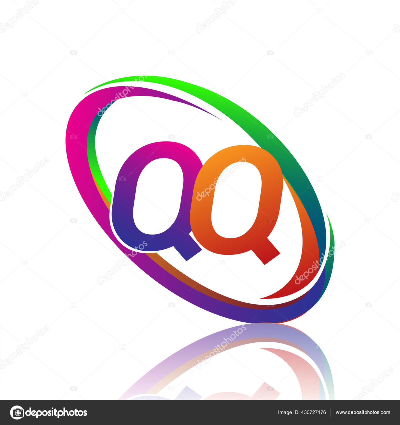 Huruf Desain Logotype Untuk Nama Perusahaan Swoosh Berwarna Logo Vektor Stok Vektor C Wikagrahic 430727176