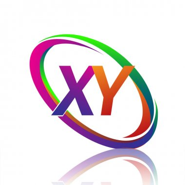 Letter XY logotype design for company name colorful swoosh. vector logo for business and company identity. icon