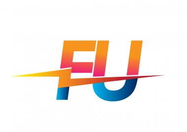 Letter FU logo with Lightning icon, letter combination Power Energy Logo design for Creative Power ideas, web, business and company. icon