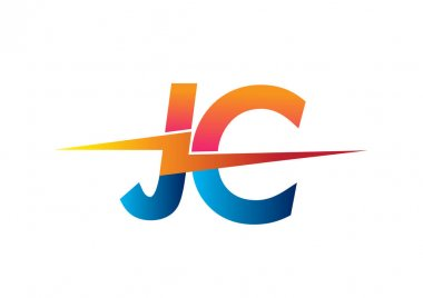 Letter JC logo with Lightning icon, letter combination Power Energy Logo design for Creative Power ideas, web, business and company. icon